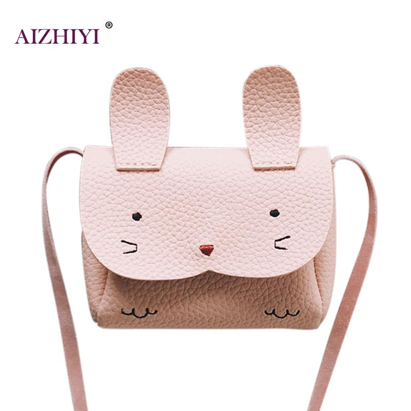 Baby Girls Mini Cute Rabbit Messenger Bag Fashion Small Shoulder Bag Purse Crossbody Bags for Girls Shopping Bags dachshund dog design girls small shoulder bags women creative casual clutch lattice cloth coin purse cute phone messenger bag