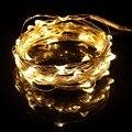 5 M 50 led LED Luz de la Secuencia del Alambre de Plata DC4.5V 3XAA Pilas de Hadas Luces de Navidad Año Nuevo Decoración de La Boda luces