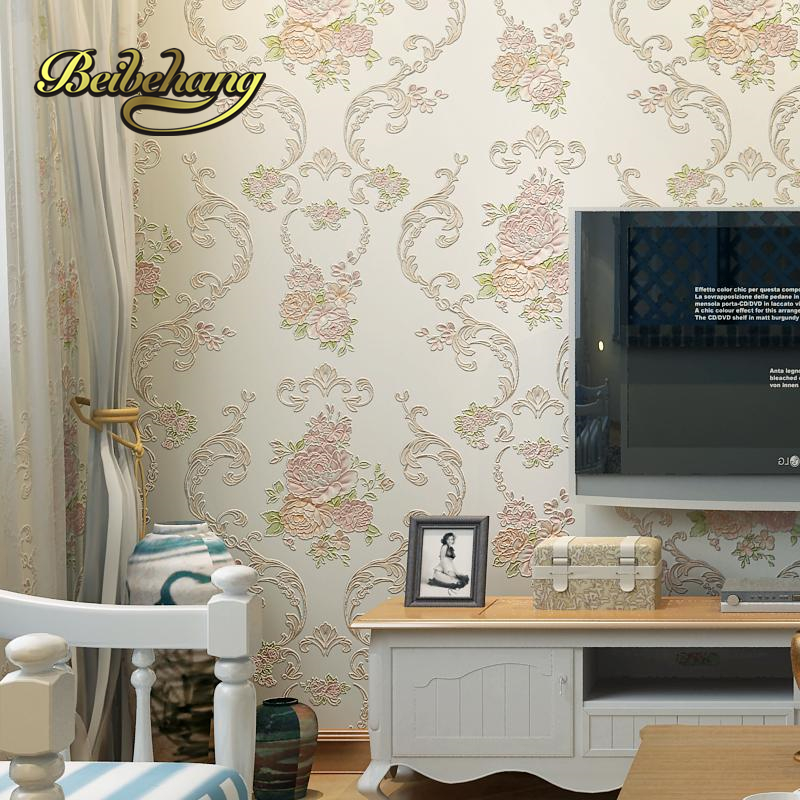 beibehang European-style garden style mash pink wall paper living room non-woven wall bedroom wallpaper girl room marriage room beibehang girl pink garden flowers 3d wallpaper non woven wall paper children s room princess bedroom bedroom romantic and warm