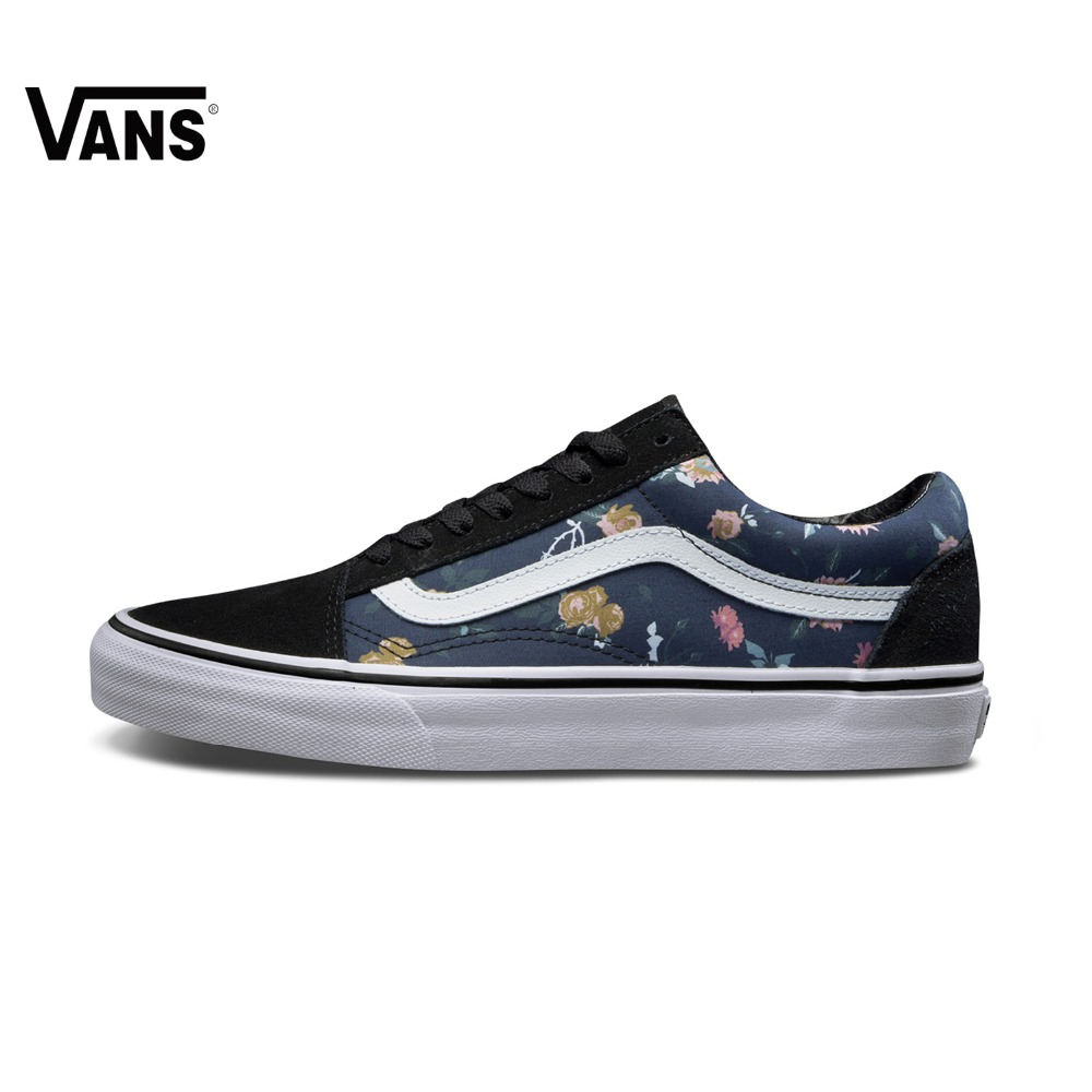 все цены на Original Vans Men's Low-Top Old Skool Skateboarding Shoes Sports Shoes Canvas Shoes Sneakers free shipping