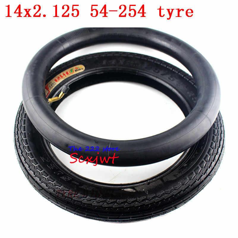 """14/"""" Bike Inner Tube 14 x 2.125 US Valve Inner Tube Tyre Black"""