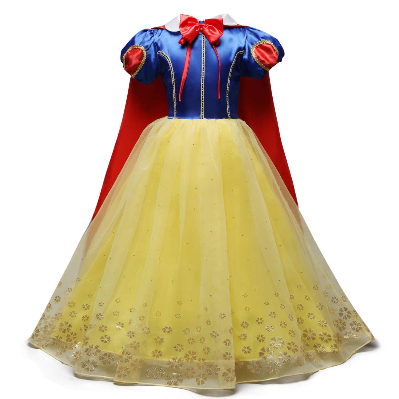 2019 crianças menina neve branca vestido para meninas baile de formatura vestido de princesa crianças presentes do bebê intant roupas festa fantasia adolescente roupas