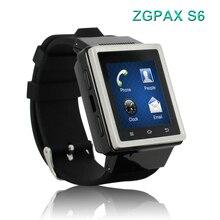¡ Nuevo Diseño! ZGPAX S6 Android 4.04 Reloj Inteligente MTK6572 Dual Core 1.0 GHz RAM 512 MB ROM 4 GB WCDMA y GSM 3G Smartphone PK ZGPAX S8