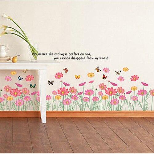 Pvc Stickers Muraux Enfants Chambre Couleur Floral Salon Chambre