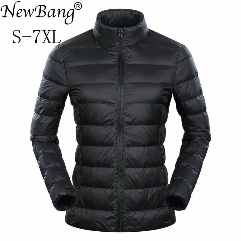 NewBang Brand 5xl 6xl 7XL Plus Women's Down Coat Ultra Light Down Jacket Women  Feather Lightweight Windbreaker Warm Thin Coats