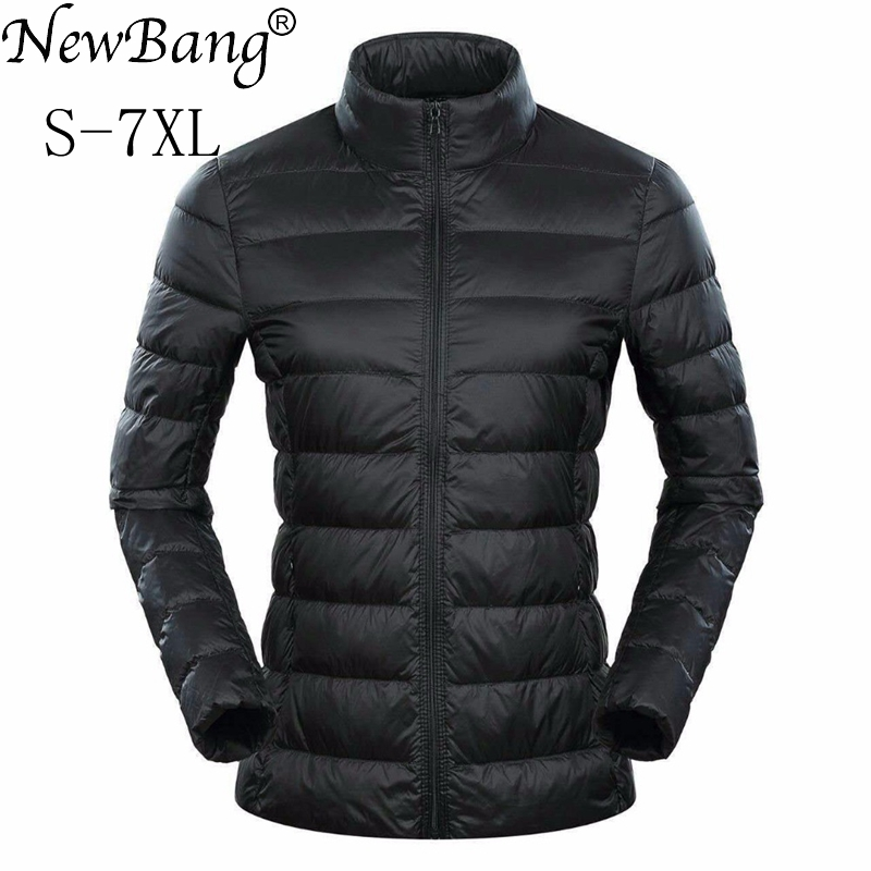 NewBang Brand 5xl 6xl 7XL Plus Women's   Down     Coat   Ultra Light   Down   Jacket Women Feather Lightweight Windbreaker Warm Thin   Coats