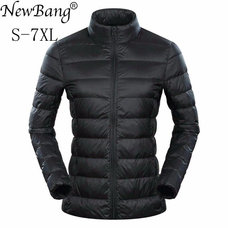 NewBang Brand 5xl 6xl 7XL Plus Womens Down Coat Ultra Light Down Jacket Women Feather Lightweight Windbreaker Warm Thin Coats