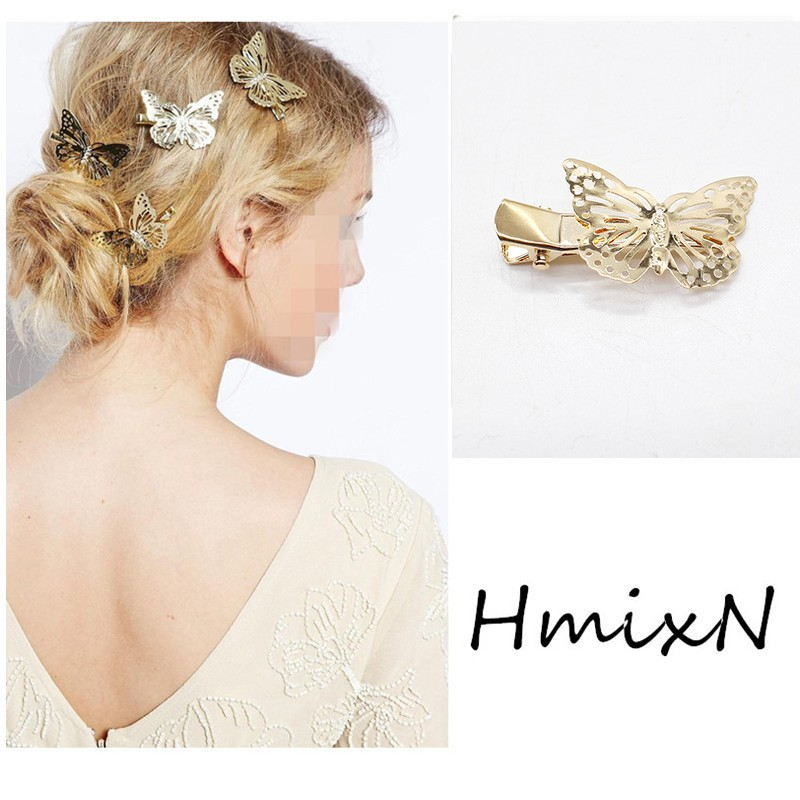 NEW Fashion Hairpins Round triangle Moon Hair pins Metal head jewelry for Women Lady Barrette Clip Hair Accessories Girls Holder 6