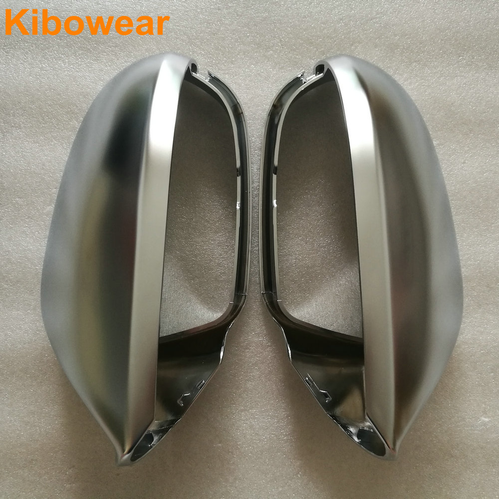 Kibowear for Audi A6 S6 C7 4G Side Wing Mirror Covers Caps Silver Matte Chrome 2013