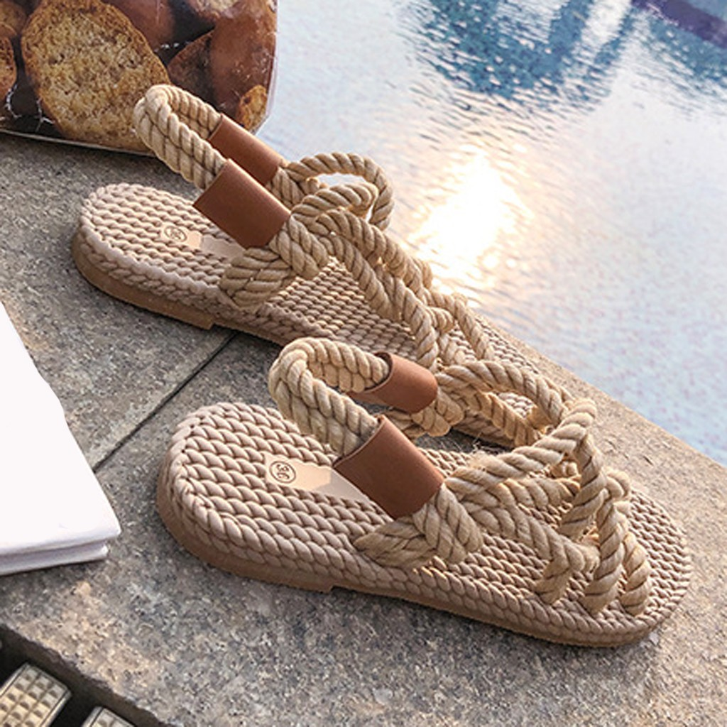 HTB1heJbd8Gw3KVjSZFDq6xWEpXaS - SAGACE Sandals Woman Shoes Braided Rope With Traditional Casual Style And Simple Creativity Fashion Sandals Women Summer Shoes