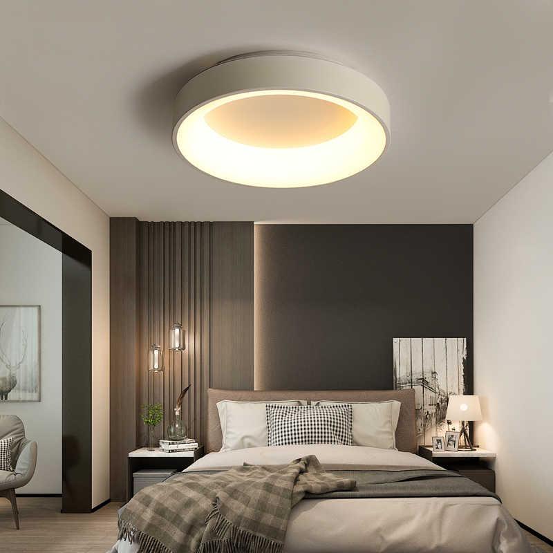 Круглый современный светодиодный потолочный светильник для гостиной спальни кабинет затемнения + RC потолочные светильники
