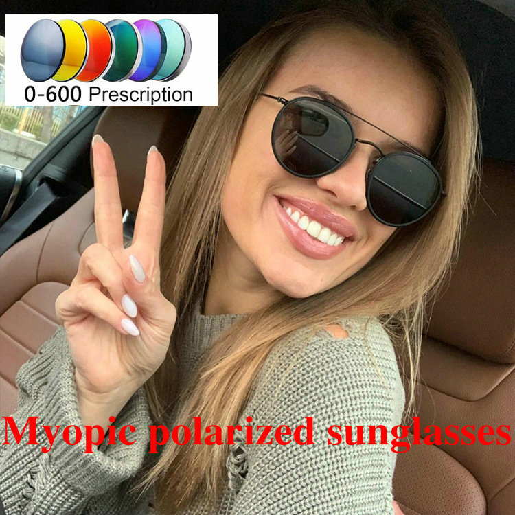4210b3845f1 New women Fashion Sunglasses Ultralight Outdoor Metal Double Beam Myopia  Glasses Polarized Sunglasses Men Round Eyewear
