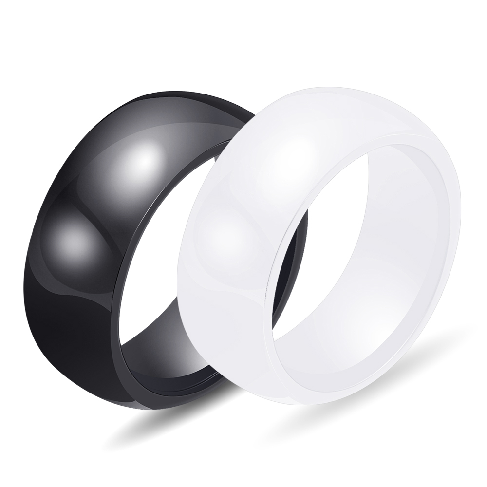 Hot Sale 3 colour 8mm Polished Ceramic Rings For Men Women Engagement Wedding Rings Jewelry Accessories Online Shopping 4