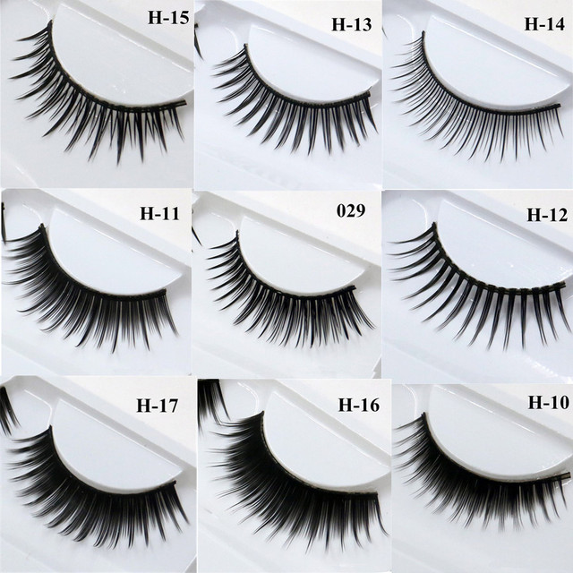 1 Pair False Mink 3D Eyelashes Natural Eyelash Extensions Cruelty Free Mink Lashes Eye Makeup Tools