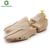 CedarGreen Men's and Women's Shoe Trees Twin Tube Adjustable New Zealand Pine Wood Shoe Tree