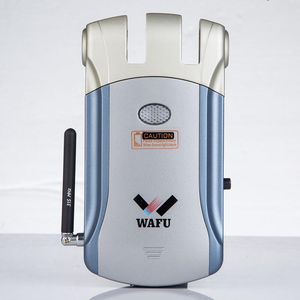 WAFU sans clé entrée électronique à distance intérieure touchée empreinte digitale serrure de porte intelligente sans fil 433 mHZ Invisible serrure intelligente