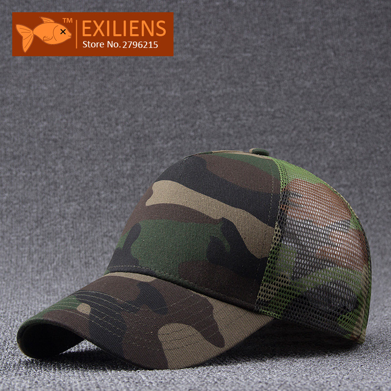 [EXILIENS] 2017 New Fashion Brand Snapback Caps 100 Cotton Camouflage Strapback Mesh Baseball Cap Bboy Hip-hop Hat For Men Women 2016 new new embroidered hold onto your friends casquette polos baseball cap strapback black white pink for men women cap