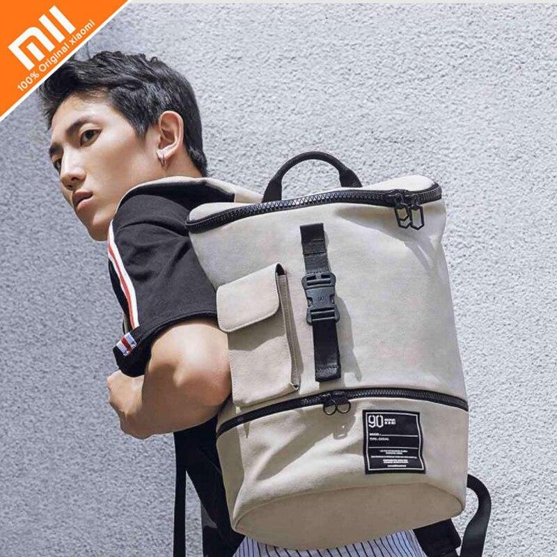 Original xiaomi mijia 90FUN mode sac à dos étanche pour hommes et femmes sac de grande capacité shopping sac décontracté dos casual notebook
