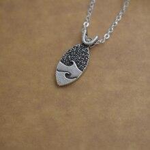 SanLan 1 шт античный посеребренный океан Волна Серфер девушка ожерелье океан Ювелирные изделия