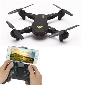 VISUO XS809W Foldable selfie drone Wifi FPV With 0.3MP Pixels G-sensor Mode RC Quadcopter RTF 2.4GHz