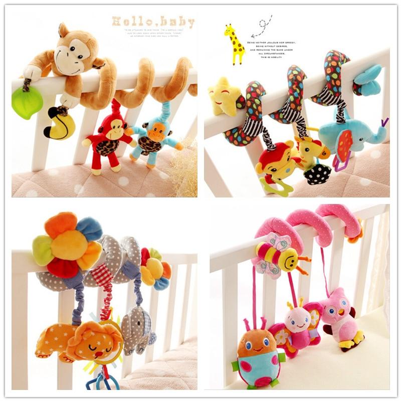 Багатофункціональний коляска брязкальце дитячі іграшки багатофункціональний ліжко підвісний дзвінок навчання і освіти для 0-12 місяців подарунки