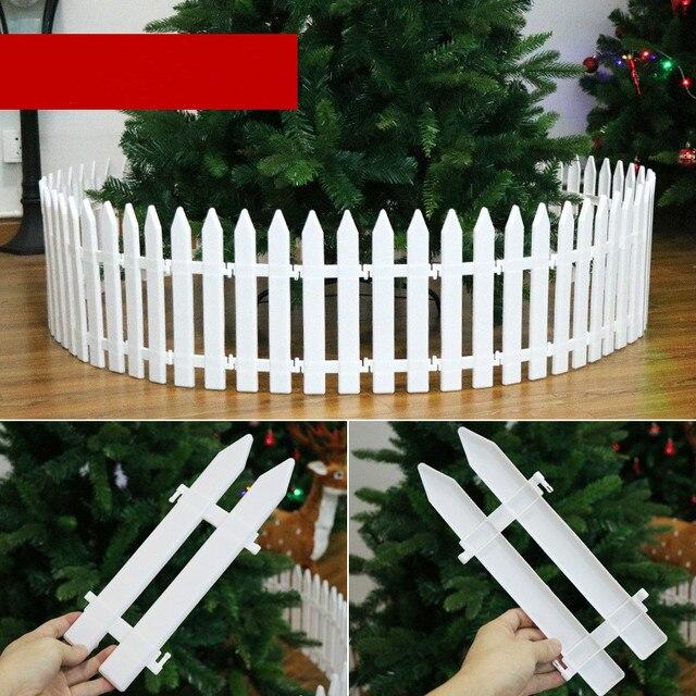 10Pcs/set Christmas tree Decorations Plastic Fence White ...