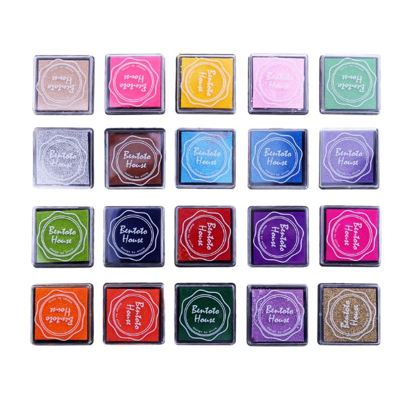 20 Colors Finger Stamps Ink Pad DIY Scrapbooking Painting