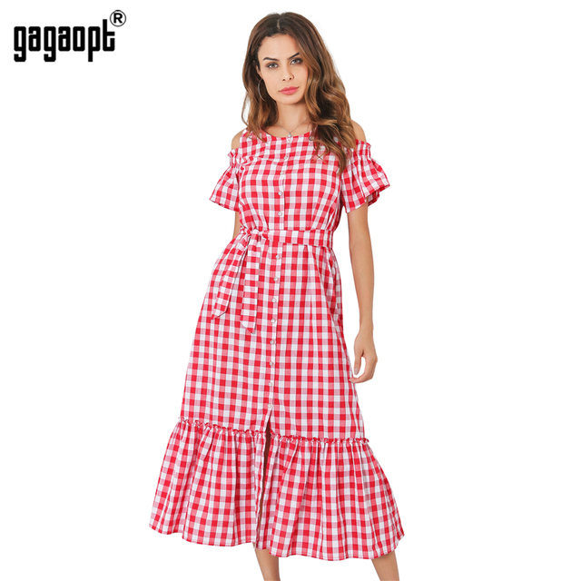 Lange jurk katoen