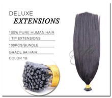 Stick Tip Brazilian Hair extensions Fashion Human Hair Extension Brazilian Afro straight Hair Nail U Tip Extensions 1g/strand