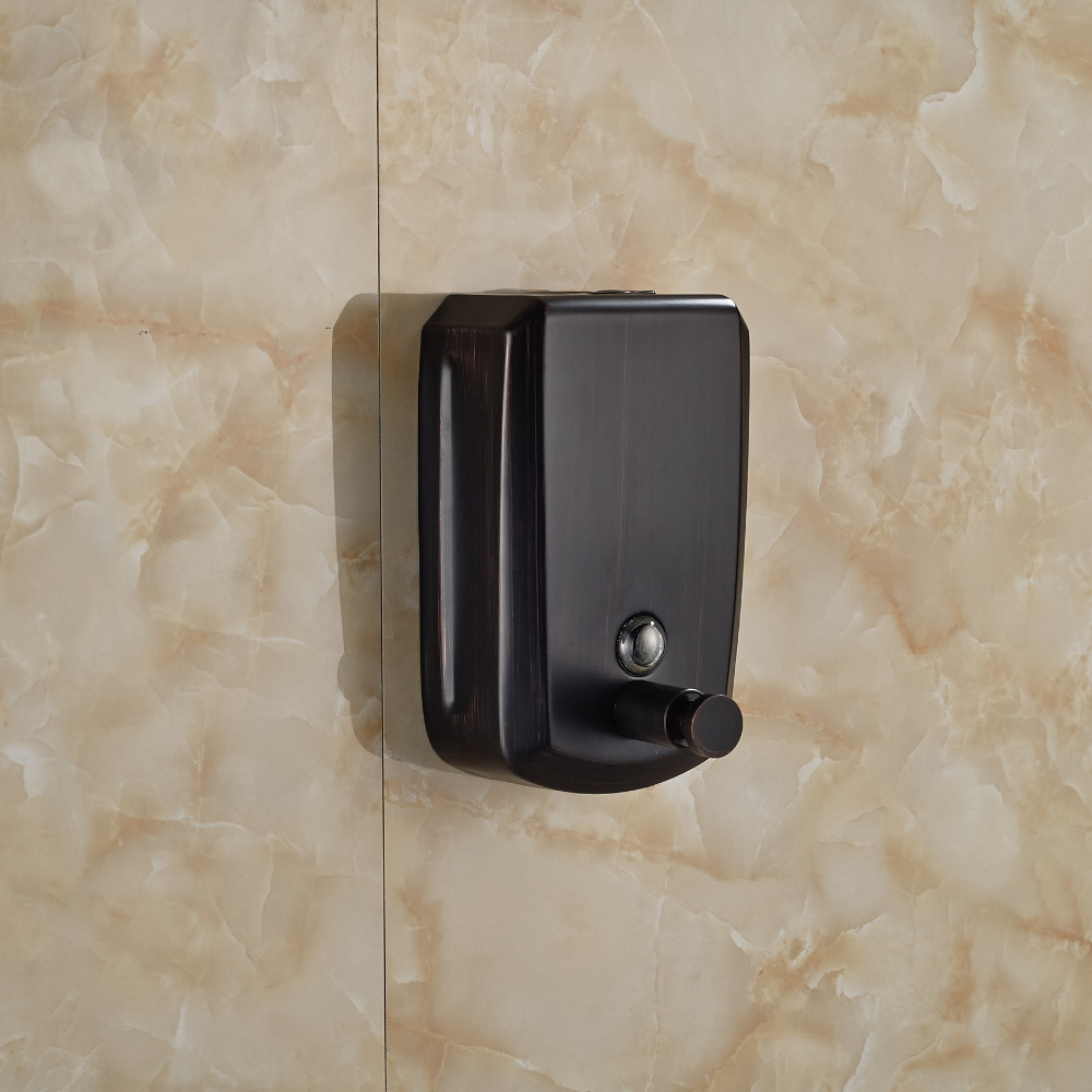 wholesale and retail oil rubbed bronze bathroom kitchen soap dispenser 800ml wall mounted soap dish box - Wall Mounted Soap Dispenser