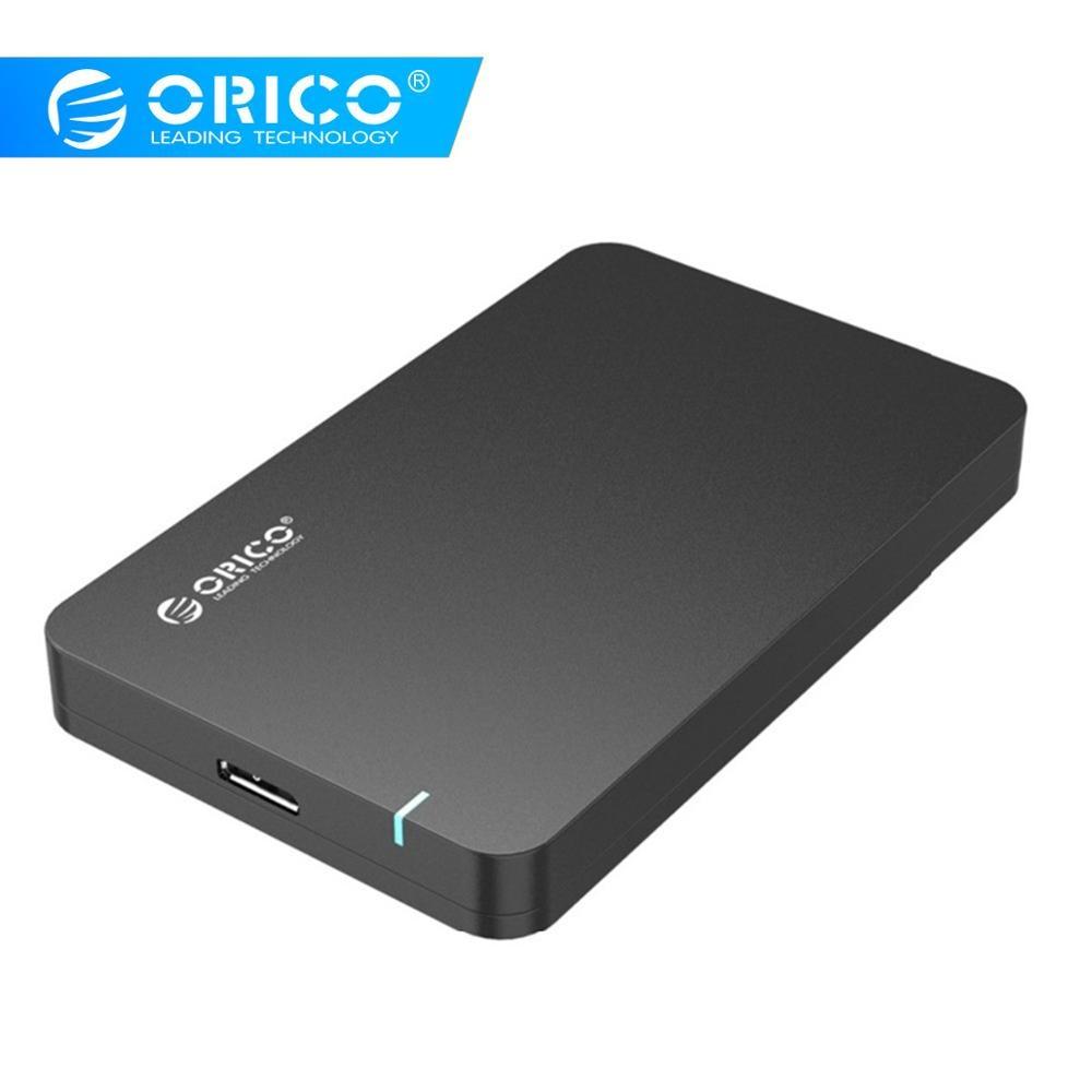 Orico usb para sata 3.0 2.5 Polegada hdd gabinete 5 gbps alta velocidade hdd caso ferramenta suporte gratuito uasp para windows 10/8/7/vista/xp ou mac