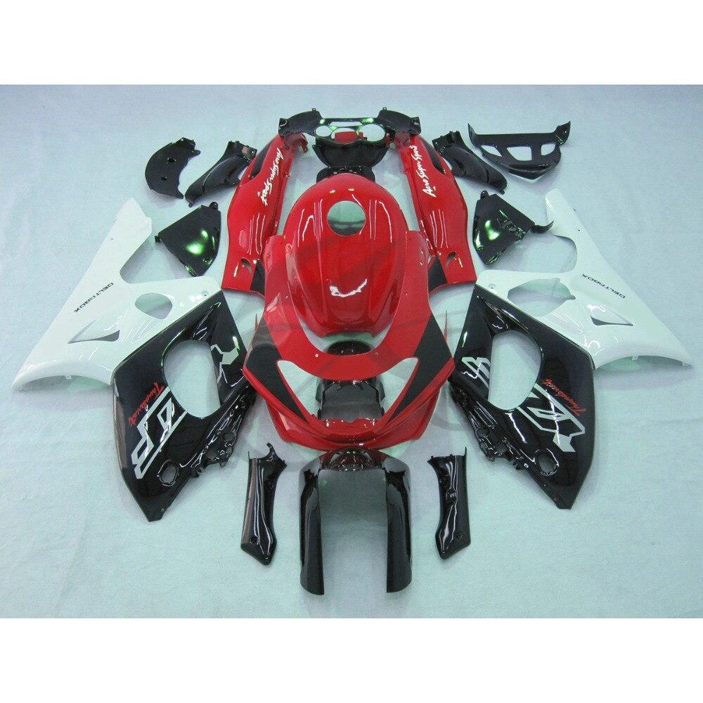 Красный черный белый ABS обтекатель для Ямаха YZF-600 YZF600R 97-07 00 01 02 03 04