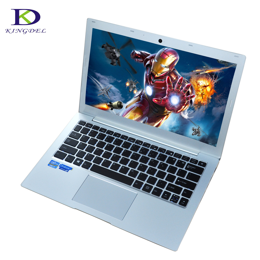 Aluminium Ultrabook Notebook Computer 13.3 Inch Core I7 7500U With DDR4 RAM Windows10 Webcam Bluetooth Backlight Keyboard
