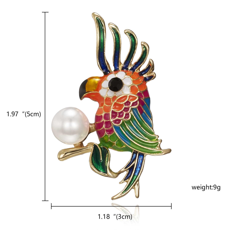 Burung Beo Burung Hantu Burung Gagak Bros Cat Hitam Burung Enamel Bros Pria Wanita Cocok untuk Gaun Topi Kerah Pin Bros Hewan Syal Gesper hadiah