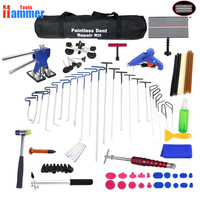 PDR Rods Hook Paintless Dent Repair Car Removal PDR Tool Kit Hail Hammer USB LED lamp