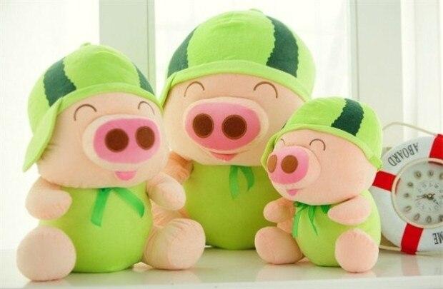 Belle conception de pastèque de fruits grand 60 cm mcterne cochon en peluche jouet oreiller jouet cadeau de noël h583