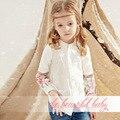 2016 детская рубашка девушки с длинными рукавами мода хлопок embroideryf одежда