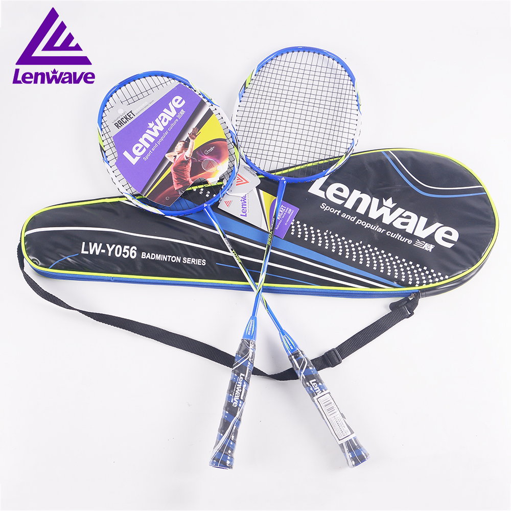 2018 Lenwave sports brand of aluminum carbon 1 badminton racket badminton rapid delivery