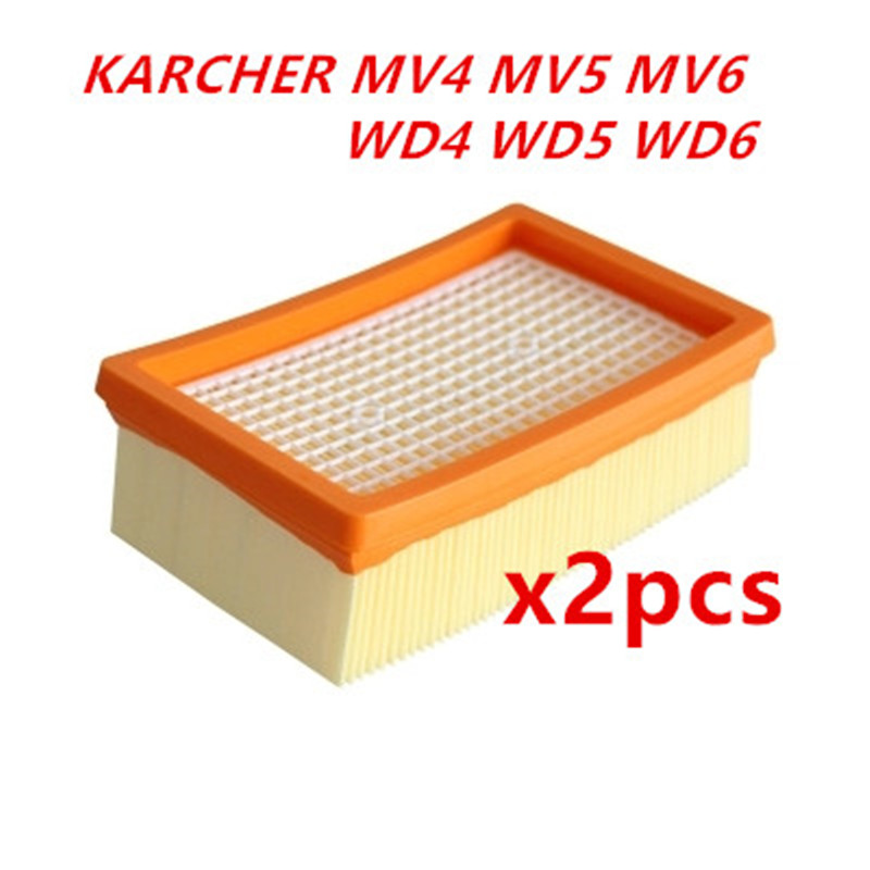 2pcs KARCHER Filter for KARCHER MV4 MV5 MV6 WD4 WD5 WD6 wet&dry Vacuum Cleaner replacement Parts#2.863-005.0 hepa filters цена