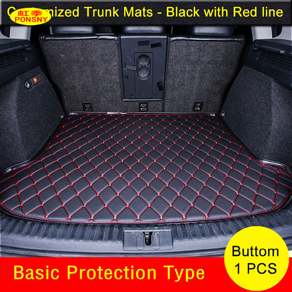PONSNY Car Trunk Mats Specially for Citroen C4 C5 C-elysee Grand Picasso c-elysee Trunk Carpets Waterproof Trunk Rugs for citroen c4 picasso ud