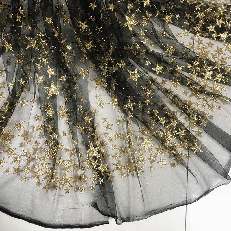 737.73руб. 10% СКИДКА|GLace 1 м/лот 4 цвета бронзовые Блестки Ткань золотые звезды сетчатая ткань с блестками для платья представление Одежда Ткань TX745|Ткань| |  - AliExpress