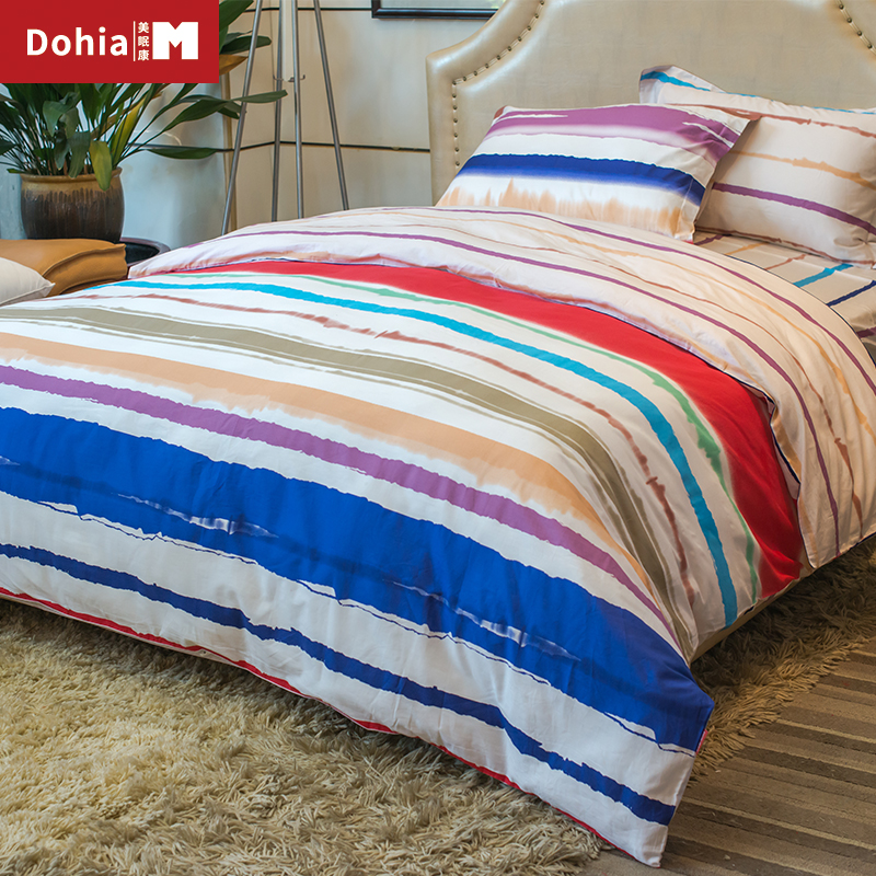 colorful bed sheets. Dohiammk Rainbow Bed Sheet Sets 4PCS FULL/QUEEN/KING Children Colorful Bedding Cover 100% Cotton-in From Home \u0026 Garden On Aliexpress.com Sheets