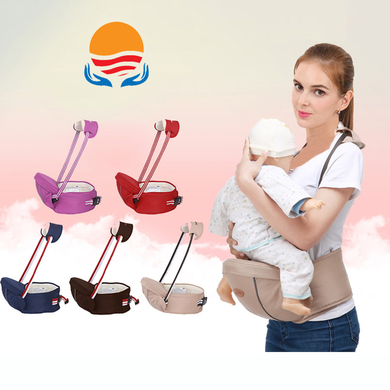 LXXU 1702 Mummy Baby Carrier Waist Stool Fashion Design Convenient Rest Baby Hold and Care Sling Kids Infant Hip Seat