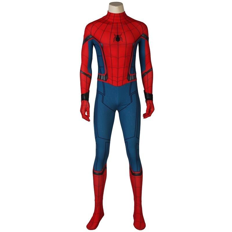 Superhero Spider-Man Homecoming Peter Benjamin Parker Cosplay Costume customize