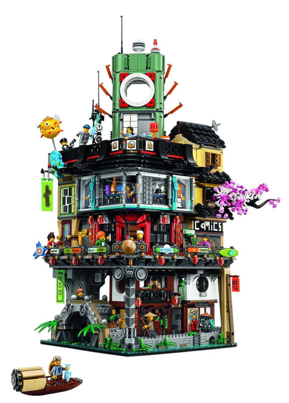 Lepin 06066 4953pcs Ninja Great Creator City Construction Model Modular Building Blocks Teenagers Toys Bricks Compatible 70620 lepin city town city square building blocks sets bricks kids model kids toys for children marvel compatible legoe