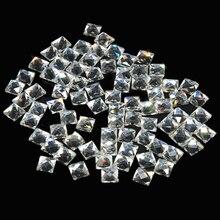 6 мм, 200 шт., 16 цветов, квадратная форма, горячая фиксация, стеклянные стразы DMC, горячая фиксация, хрустальные камни для DIY одежды, креативный дизайн
