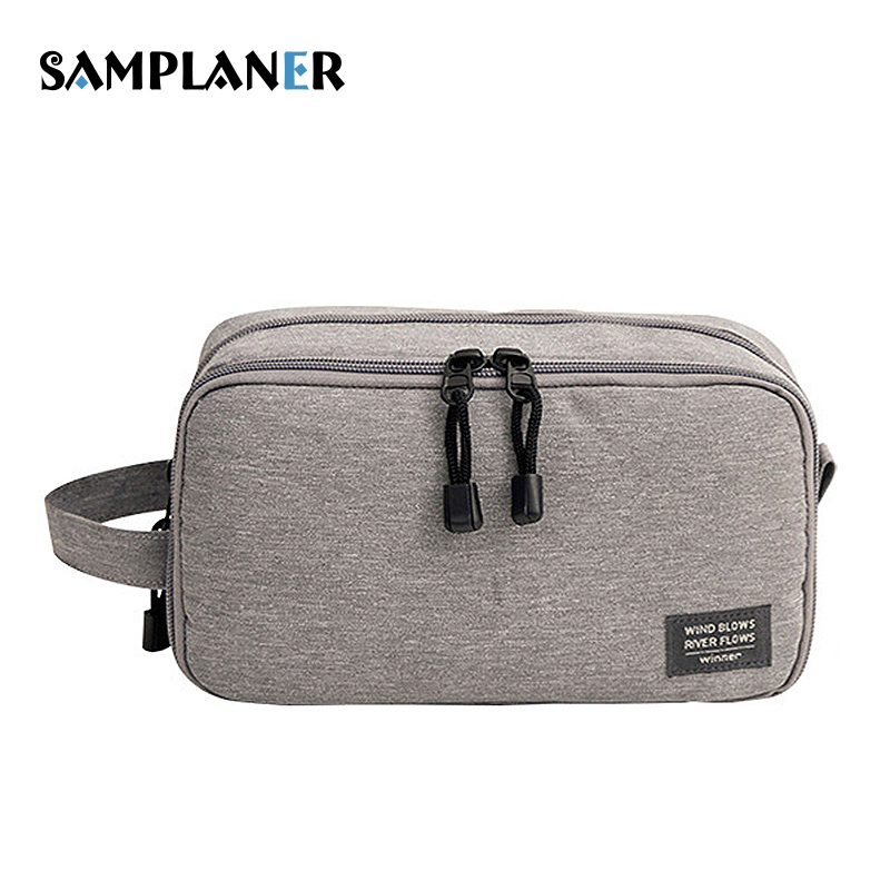 Samplaner Men Women Cosmetic Case Travel Makeup Bags Necessaries Pouch Toiletry Bag Zipper Solid Large Capacity Wash Organizer zaful 2017 new women tie dye braided criss cross bikini set sexy spaghetti straps beach swimwear women swimsuit bathing suit