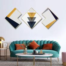Geometric array Combination framed painting Creative Contrast color Triptych Simple abstract decorative Hang