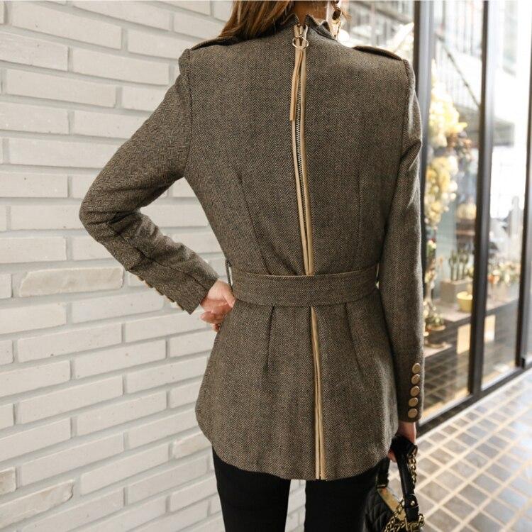 Pardessus Tempérament Mince Vestes Pour Épais Femmes Courtes Hiver As Laine De Picture Automne Collier Élégant Stand Ol gwq7SU6P