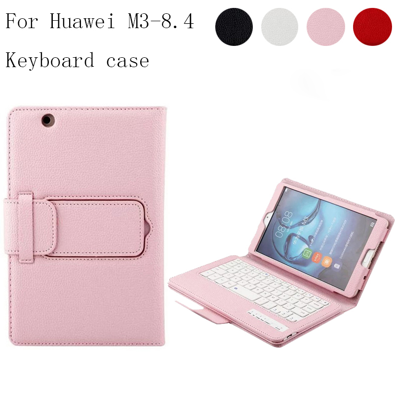For Huawei MediaPad M3 8.4 Multifunction Removable Wireless Bluetooth Keyboard Case For Huawei M3 BTV-W09 BTV-DL09